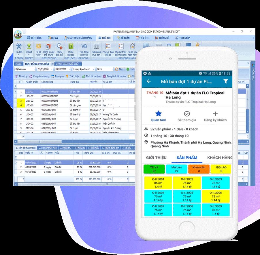 Phần mềm quản lý kinh doanh bất động sản City BĐS 4.0
