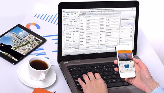Sử dụng phần mềm quản lý kinh doanh bất động sản